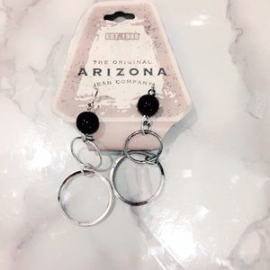 Arizona NWOT Black Fashion Earrings